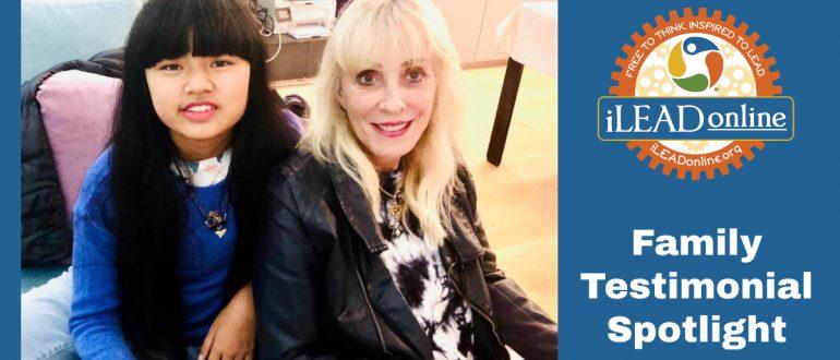 Leilani and Sandra iLEAD Online Family Testimonial Spotlight
