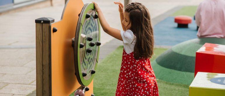 child playing playground