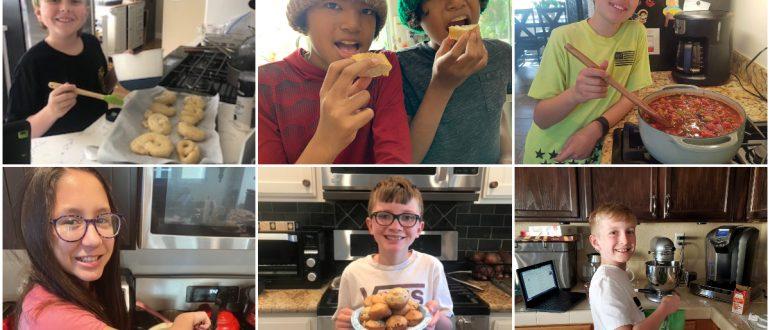 iLEAD Agua Dulce 5th graders cooking
