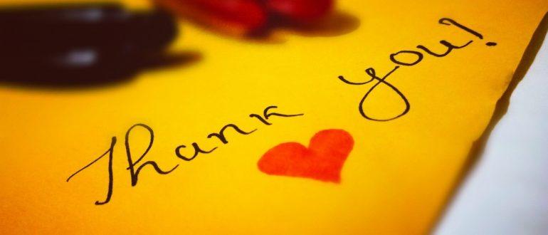 thank you note pen heart